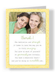 Friend Tribute 5x7 Folded Card
