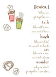 Talk Laugh Eat Wonder 5x7 Folded Card