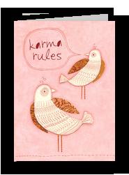 Karma Rules 5x7 Folded Card