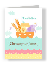 Christening Ark 5x7 Folded Card