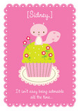 Adorable Cupcake 5x7 Folded Card