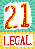 Twenty One Legal 5x7 Folded Card