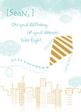 Dreams Take Flight 5x7 Folded Card