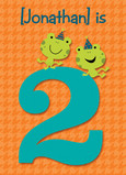 Two Frogs Birthday 5x7 Folded Card