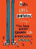 18 Grown Birthday 5x7 Folded Card