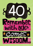 Age and Wisdom 5x7 Folded Card