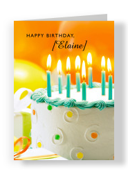 Cake Candles Birthday 5x7 Folded Card