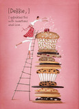 Cookie Tower 5x7 Folded Card