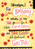 Girl Talk Birthday 5x7 Folded Card