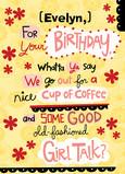 Girl Talk Birthday 5x7 Folded Card
