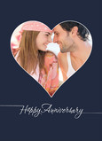 Heart Frame Anniversary 5x7 Folded Card