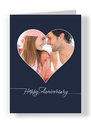 Heart Frame Anniversary 5x7 Folded Card