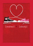 Sneaker Laces Love 5x7 Folded Card