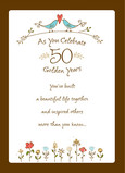 Two Bird Golden Years 5x7 Folded Card