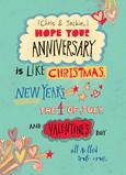 Anniversary Like Holidays 5x7 Folded Card