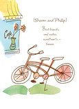 Best Friends Bicycle 5x7 Folded Card