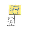 Get Well Soon Sign 5x7 Folded Card