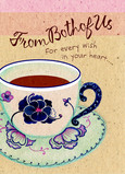 Cup of Tea Comfort 5x7 Folded Card