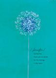 Dandelion Sympathy 5x7 Folded Card