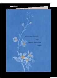 Peace Beyond the Sorrow 5x7 Folded Card