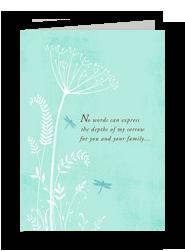 Dragonfly Sorrow 5x7 Folded Card