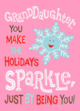 Holiday Snowflake Sparkle 5x7 Folded Card