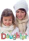 Daughter Christmas Photo 5x7 Folded Card