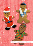 Gingerbread Wishes 5x7 Folded Card
