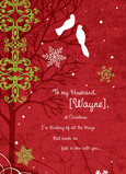 Crimson Holiday Love 5x7 Folded Card