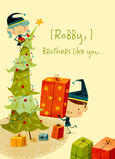 Brother Christmas Tree 5x7 Folded Card