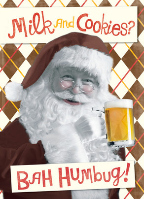 Santa Wants a Beer 5x7 Folded Card