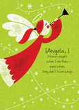 Lime Holiday Angel 5x7 Folded Card