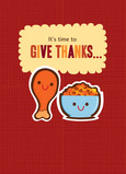 Give Thanks Drumstick 5x7 Folded Card
