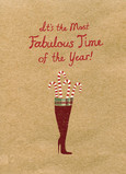 Fabulous Candy Cane 5x7 Folded Card