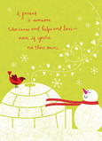Snowman Parent Igloo 5x7 Folded Card