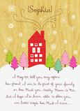 Cozy Heart House 5x7 Folded Card