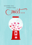 Everything Sweet Candies 5x7 Folded Card