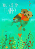Happy Otter Love 5x7 Folded Card