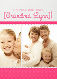Pink Grandma Border 5x7 Folded Card