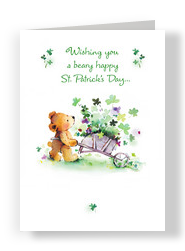 Beary St Patricks 5x7 Folded Card