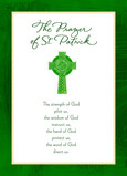 St Patrick Prayer 5x7 Folded Card