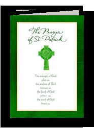 St Patrick Prayer 5x7 Folded Card