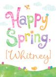 Happy Spring Chicks 5x7 Folded Card