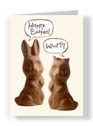 Deaf Chocolate Bunny 5x7 Folded Card
