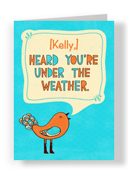 Get Well Bird 5x7 Folded Card