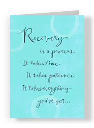Blue Recovery Process 5x7 Folded Card