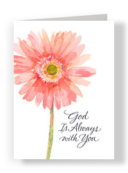 Pink Daisy Always 5x7 Folded Card