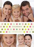 Polka Dot Celebrate 5x7 Folded Card