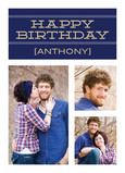 Navy Birthday Banner 5x7 Folded Card