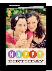 Colorful Birthday Circles 5x7 Folded Card